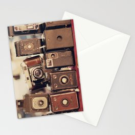 Old Cameras (Vintage and Retro Film Cameras Collection) Stationery Cards