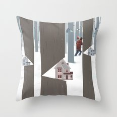 A Tree In The Forest Throw Pillow