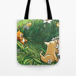 Roll on Flowers Tote Bag