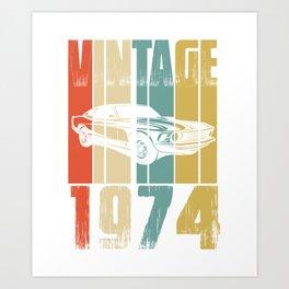 Vintage Retro 1974 T-Shirt Art Print