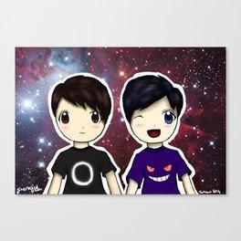 Dan and Phil chibi Canvas Print