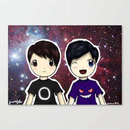 Dan and Phil chibi Canvas Print