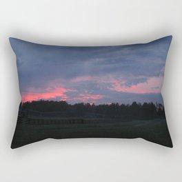 Purple and Pink Sunset Rectangular Pillow