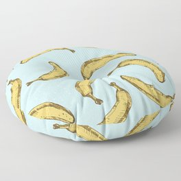 Bananas Pattern Blue Version Floor Pillow