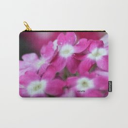 Pink White Verbena Flowers Carry-All Pouch