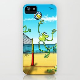 Olympic Volleyball Frog iPhone Case