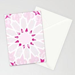 PINK Los Angeles Geometric Art Stationery Cards