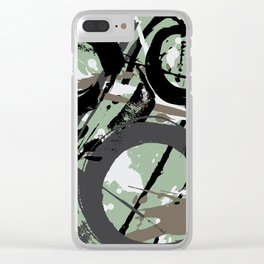 Enso Groove F by Kathy Morton Stanion Clear iPhone Case