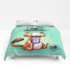 Chocolate addict Comforters