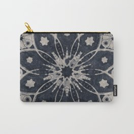 Mandala Blue Bohemian Geometic Abstract Carry-All Pouch