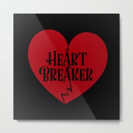 Valentine's Day Love Heart Friend Gift Metal Print
