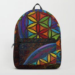 The Flower of Life (Sacred Geometry) 3 Backpack