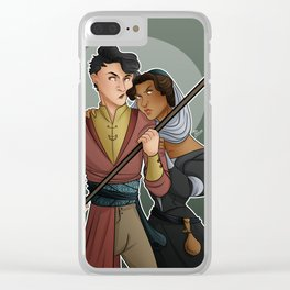 Soft Whispers Clear iPhone Case