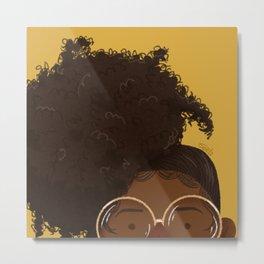 Natural Hair (Kinky) Metal Print
