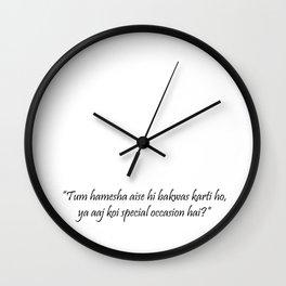 Jab we met Wall Clock