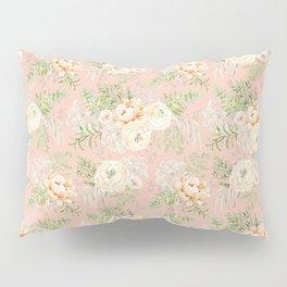 Blush pink peony bouquets pattern Pillow Sham