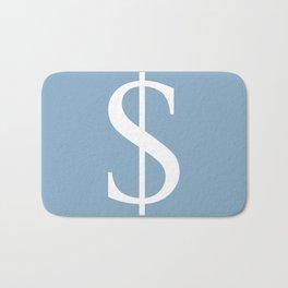 dollar sign on placid blue color background Bath Mat