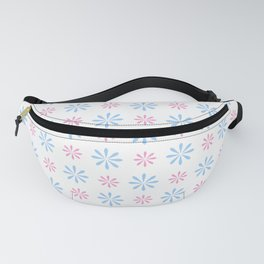 geometric flower 87 blue and pink Fanny Pack