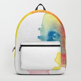 abstract watercolor painting Backpack