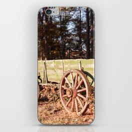 Fall farm days iPhone Skin
