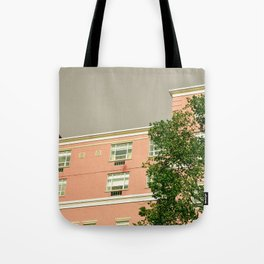 Pink Apartment House Tote Bag