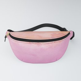 Watercolor Pink Orange Duo Fanny Pack