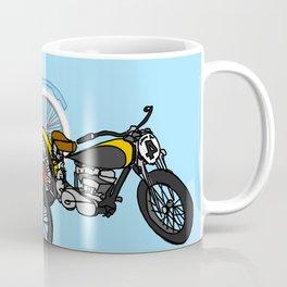 3 Motorcycles Blue Coffee Mug