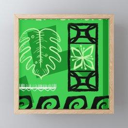 Hawaiian Pattern #1 - green! Framed Mini Art Print