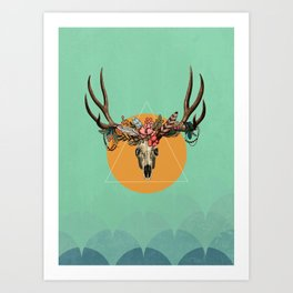 Flower skull 3 Art Print