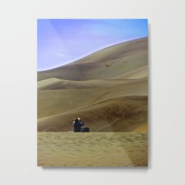 Alone on the Sand Dunes. Metal Print