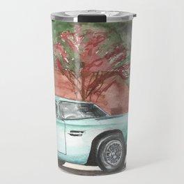 Mint Green Aston Martin DB MK3 1958 Original watercolour painting Travel Mug