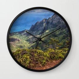 Kalalau Valley, Kauai  Wall Clock