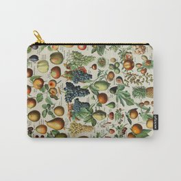 Fruits Vintage Scientific Illustration French Language Encyclopedia Lithographs Educational Carry-All Pouch