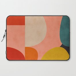 geometry shape mid century organic blush curry teal Laptop Sleeve