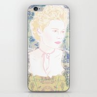 marie antoinette iPhone & iPod Skins featuring MARIE ANTOINETTE by Itxaso Beistegui Illustrations