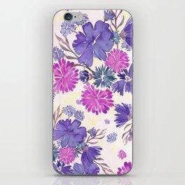 Purple Floral Bouquet iPhone Skin