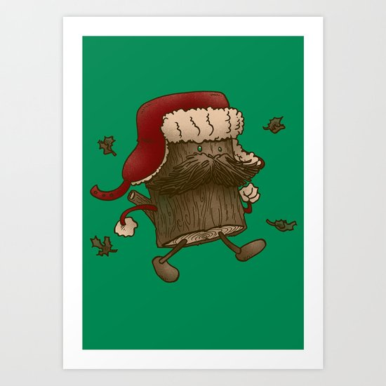 Logstache Art Print