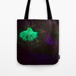 Volcano of fluorescent anemone Tote Bag