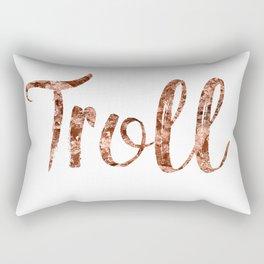 Rose gold troll Rectangular Pillow