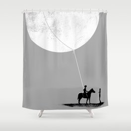 do you want the moon? Shower Curtain