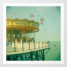 Carousel by the Sea Art Print