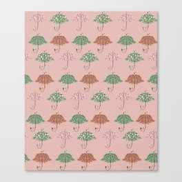 Blooming Umbrella Shape Tree Canvas Print