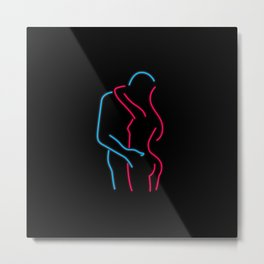 Neon Lovers Metal Print