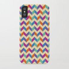Coloured Chevron iPhone X Slim Case