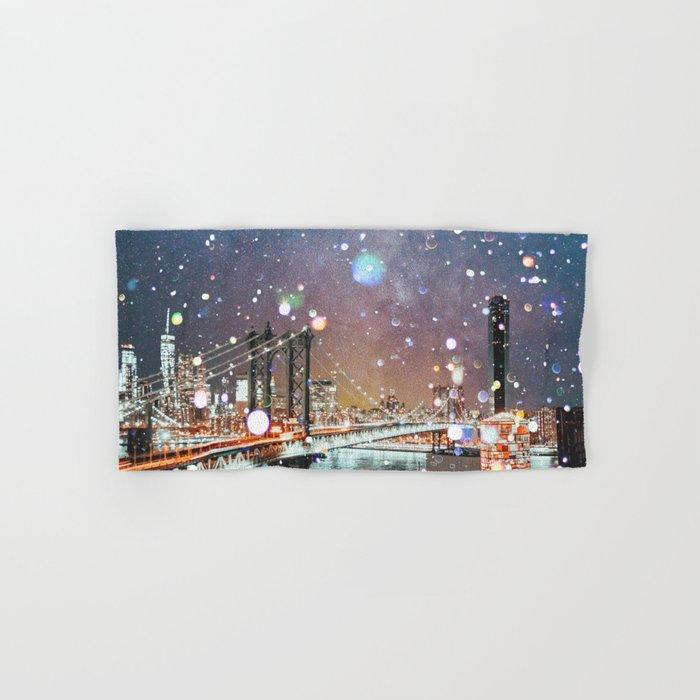 New York City Lights Manhattan Rooftop City Views Hand & Bath Towel