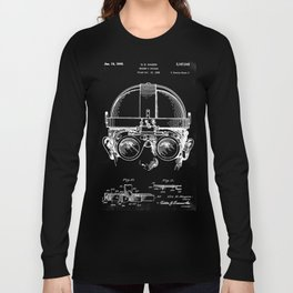 Welding Goggles Blueprint Long Sleeve T-shirt