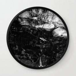 Reflecting Pond (Black & White) Wall Clock