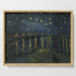 Starry Night Over the Rhone by Vincent van Gogh Serving Tray