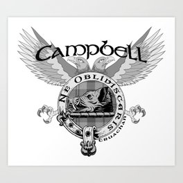 CAMPBELL FAMILY CREST Art Print