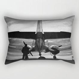 Airplane at sunrise Rectangular Pillow